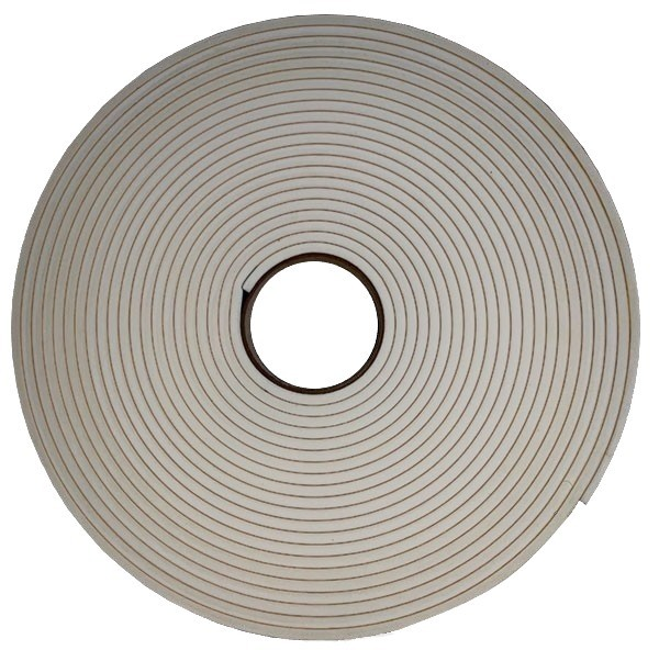 30mm x 3mm x 25M D/S PVC 4710AR White Foam Tape