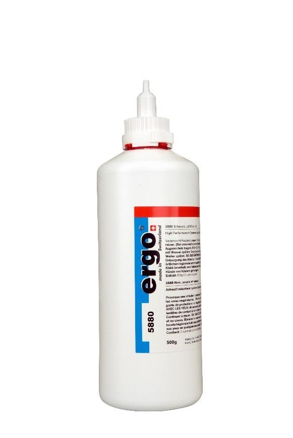 Ergo 5880 500g Instant adhesive Black, Tough and Flexible