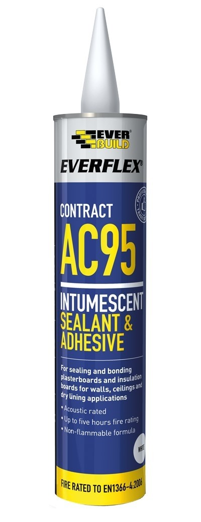 Everflex AC95 Intumescent Acoustic White Sealant 900ml