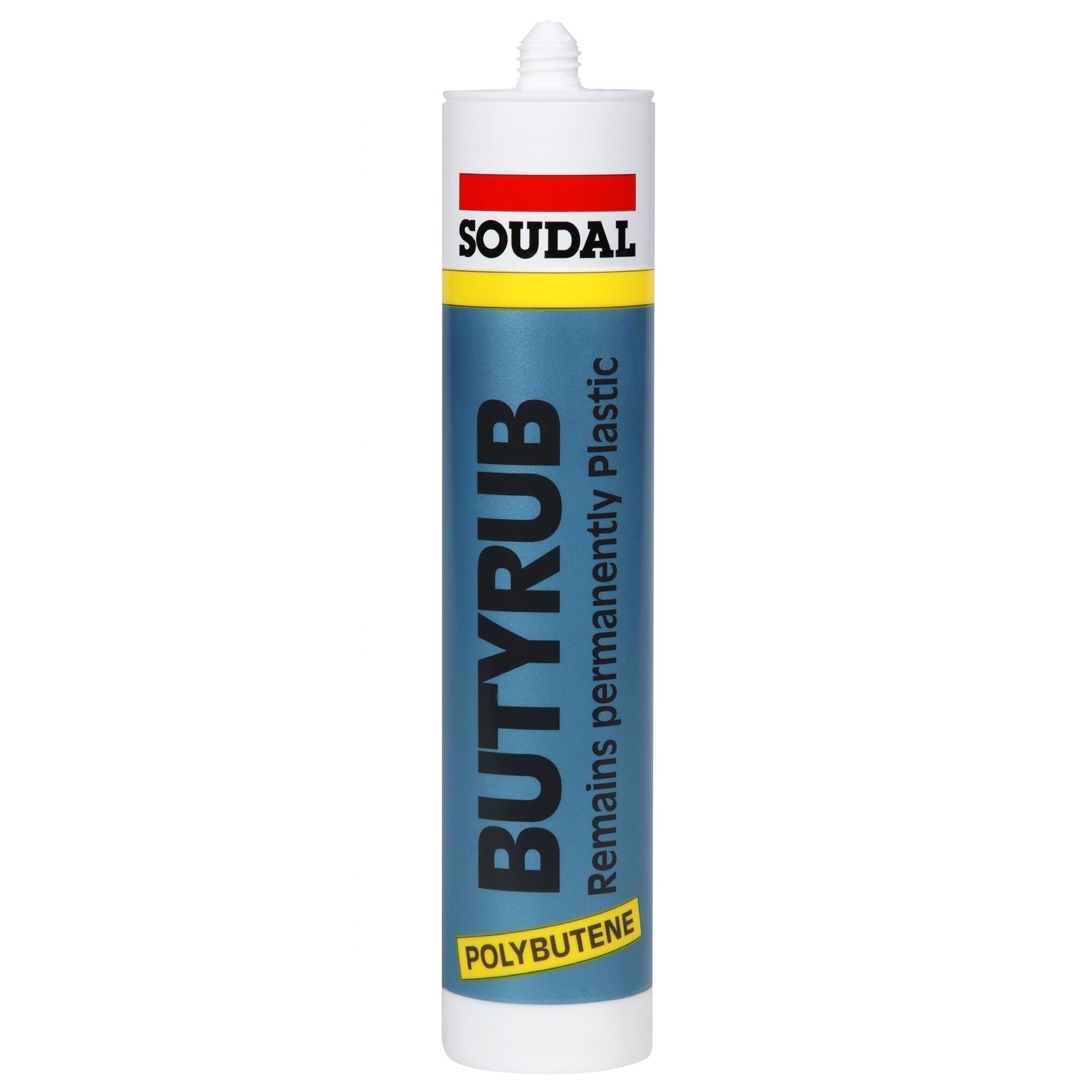 Soudal Butyrub Mastic Black Sealant 310ml