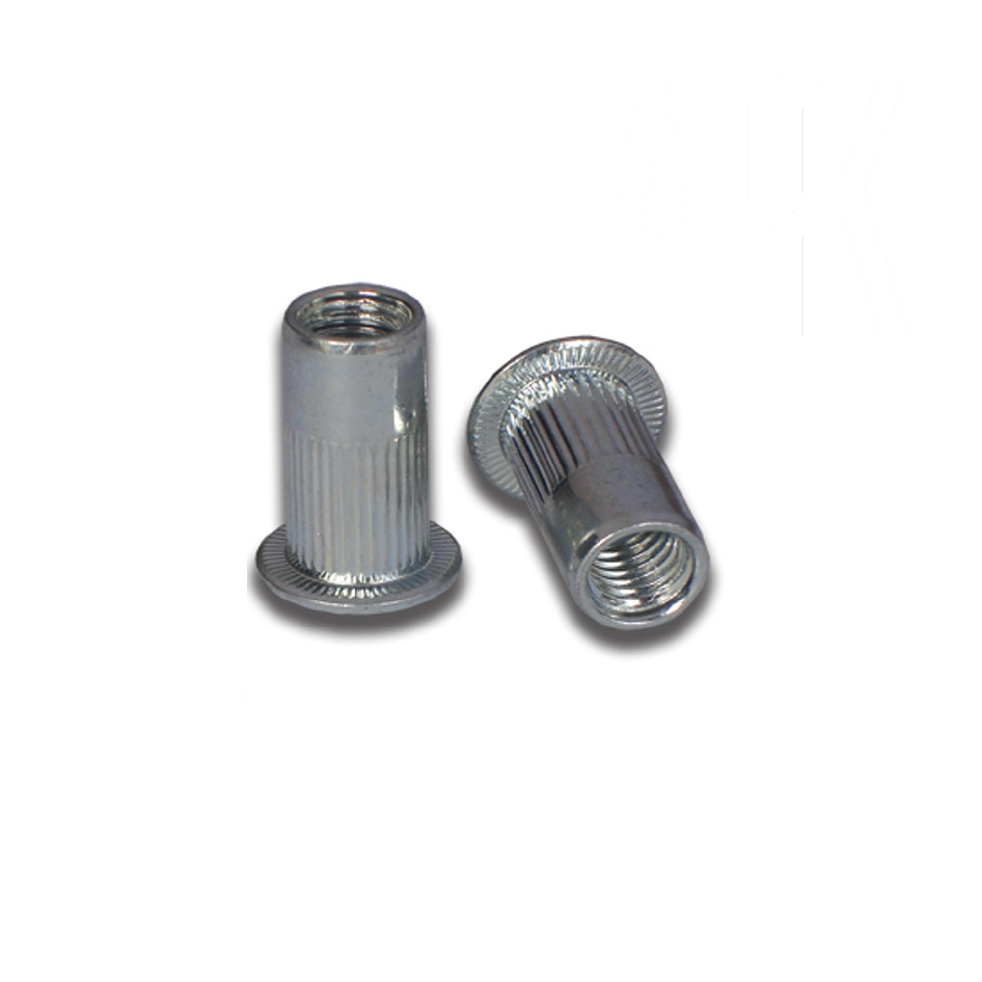 M8 Aluminium Flathead Rivet Nut Round Body