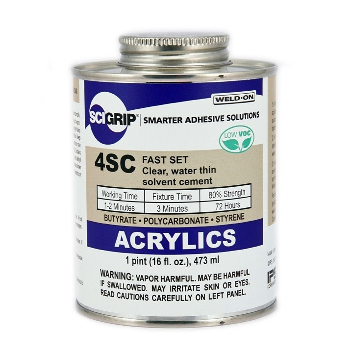 Scigrip Weld On 4SC Clear Acrylic Cement 473ml