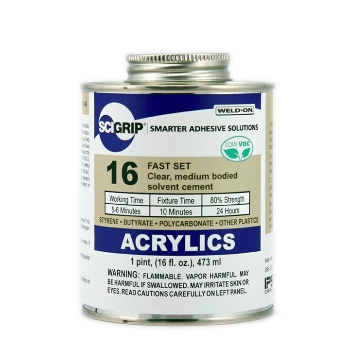 Scigrip Weld On 16 Clear Acrylic Cement 473ml