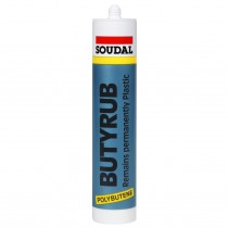 Soudal Butyrub Mastic White Sealant 310ml